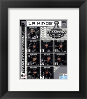 Framed Los Angeles Kings 2012 NHL Stanley Cup Champions Composite