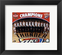 Framed Oklahoma City Thunder 2011-12 NBA Western Conference Champions Team Photo