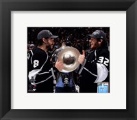 Framed Drew Doughty & Jonathan Quick with the Stanley Cup Trophy after Winning Game 6 of the 2012 Stanley Cup Finals