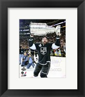 Framed Justin Williams with the Stanley Cup Trophy after Winning Game 6 of the 2012 Stanley Cup Finals