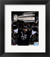 Framed Mike Richards with the Stanley Cup Trophy after Winning Game 6 of the 2012 Stanley Cup Finals