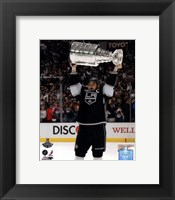 Framed Dustin Brown with the Stanley Cup Trophy after Winning Game 6 of the 2012 Stanley Cup Finals