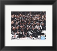 Framed Los Angeles Kings Team Celebration on ice after Winning Game 6 of the 2012 Stanley Cup Finals