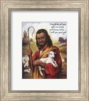 Framed Christ the Shepherd