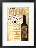 Framed Good Wine