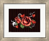 Framed Rose And Heart Tattoo