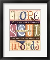 Framed Soul Words