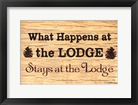 Framed At The Lodge