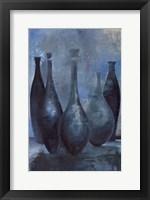 Framed Vases in Blue II