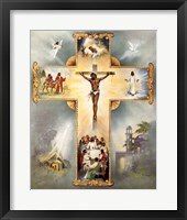Framed Living Cross