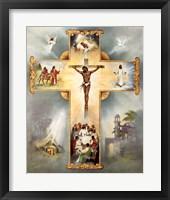 Framed Living Cross