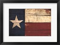 Framed Texas Flag