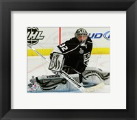 Framed Jonathan Quick Game 3 of the 2012 Stanley Cup Finals Action
