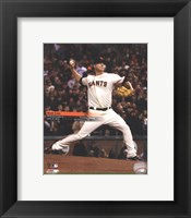 Framed Matt Cain throws a Perfect Game AT&T Park June 13, 2012 with Overlay
