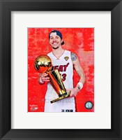 Framed Mike Miller with the NBA Championship Trophy Game 5 of the 2012 NBA Finals