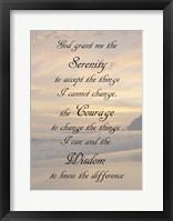 Framed Serenity Prayer - landscape