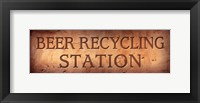 Framed Beer Recycling Station