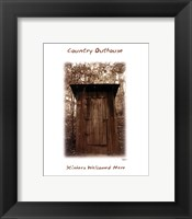 Country Outhouse Framed Print
