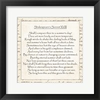 Framed Shakespeare's Sonnet 18 - word frame
