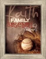 Framed Faith Family Baseball