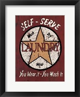 Framed Self Serve Laundry
