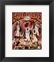 Framed Miami Heat 2012 NBA Champions Composite