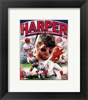 Framed Bryce Harper 2012 Portrait Plus