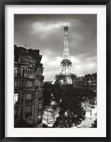 Framed Eiffel Tower Evening