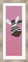 Framed Zebra on Pink