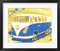 Framed Vintage VW Bus