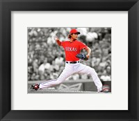 Framed Yu Darvish 2012 Spotlight Action