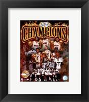 Framed Miami Heat 2012 NBA Champions PF Gold Composite