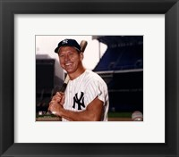Framed Mickey Mantle Posed With Bat