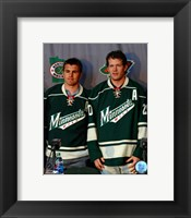 Framed Zach Parise & Ryan Suter 2012 Press Conference
