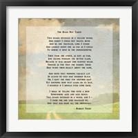 Framed Robert Frost Road Less Traveled Poem