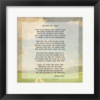 Framed Robert Frost Road Less Traveled Poem