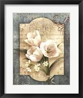 Framed Marche Aux Fleurs