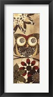 Framed Owls Wisdom I
