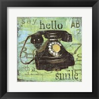 Framed Hello With A Smile