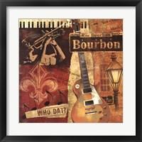 Framed Rue Bourbon