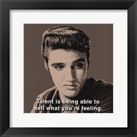 Framed American Icon (Elvis Presley)