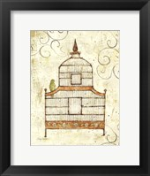 Framed Bird Cage III