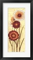 Framed Happy Flowers Neutral Panel I