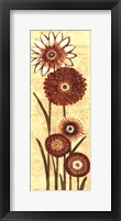 Framed Happy Flowers Neutral Panel II