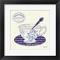 Framed Blue Cups I