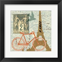 Framed Postcard from Paris Collage