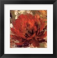 Framed Fiery Dahlias II - Crop