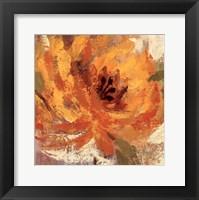 Framed Fiery Dahlias I - Crop