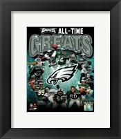 Framed Philadelphia Eagles All Time Greats Composite