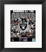 Framed Oakland Raiders All Time Greats Composite